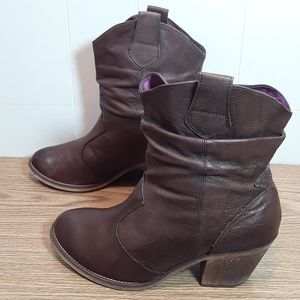 Jeffrey Campbell Vintage leather slouch boots